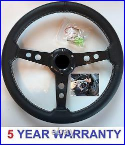 3 Spoke Steering Wheel & Quick Snap Off Boss Kit 36 Spline Land Rover Defender