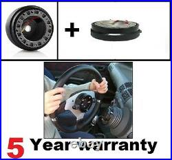 3 Spoke Steering Wheel & Snap Off Boss Kit Fit 36 Spline Land Rover Defender New
