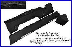 Black Stitch For Landrover Series 2 2a 3 Dash Dashboard Leather Covers 3 Parts