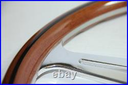 CLASSIC WOOD STEERING WHEEL 390mm LUISI MONTECARLO MAHOGANY MADE in ITALY