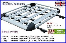 Freelander Discovery Landrover Roof Tray Platform Rack Carry Box Luggage Large