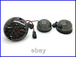Full Smoked LED light upgrade kit for inc Fog Reverse For Land Rover Defender