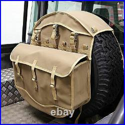 Land Rover Defender 90 110 or Series Canvas Spare Wheel Cover in Sand Canvas