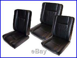 Land Rover Series 2, 2A & 3 Black Deluxe Vinyl Front Seats Set DA4298