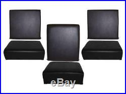Land Rover Series 2, 2A & 3 Standard Black Vinyl Seat Set DA4305