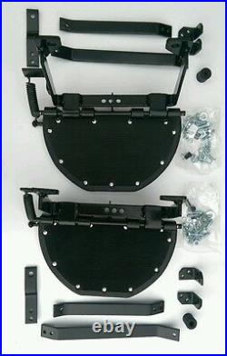 Land Rover Series 2, 2a & 3, Side Steps X2 With Brackets & Fixings, BR1456