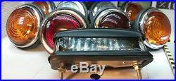 Land Rover Series 2 2a Lucas L488 Glass Lens External & Number Plate Lights Set