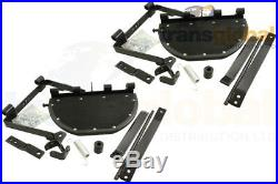 Land Rover Series 2a & 3 Fold up Side Steps with Fixings & Brackets Bearmach