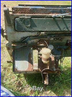 Land Rover Series 3 complete bulkhead with no dash parts in ok condition