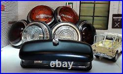 Land Rover Series Early 2 Lucas L488 Glass Lens External Number Plate Lights Set