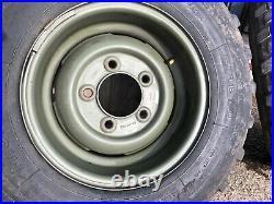 Land Rover Series Forward Control Set of 4 Deep Dish Steel Wheels