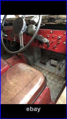 Land Rover series 1 fire engine