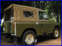 NEW 88 Series 2+3 Full Land Rover Canvas Hood With Side Windows (2 colours)
