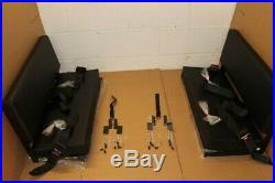 PAIR black vinyl bench seat + lap belts FITS Land Rover Defender 90/110 Series 8