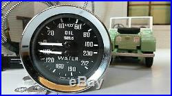 Smiths Oil Pressure Gauge Water Temperature Dual 233480 Land Rover Series 1 2 2a