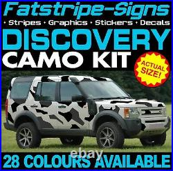 To fit LAND ROVER DISCOVERY GRAPHICS CAMO STICKERS DECALS STRIPES 4x4 2 3 4