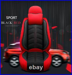 Universal 5-Seats Vehicle Full Set Seat Covers PU Leather Seat Cushion Protector