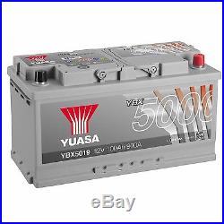 Yuasa YBX5019 12V Silver 019 Series Car Battery 100Ah 900A